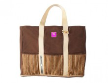 Brown Stripes - Tasche - PurPocket